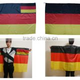 2016 Euro football gift New Arrival Customized Polyester Cape Flags and germany Body Flags
