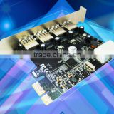 USB3.0 4 Port Pcie component adapter Card