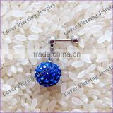 With Gems Ball High Polish Stainless Steel Ear Cartilage Studs [ET-026]