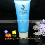 Plastic Material and Screen Printing Surface Handling transparent tube with plug cosmetic tube packaing