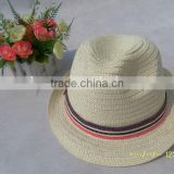 Competitive price useful plain paper straw fedora cap