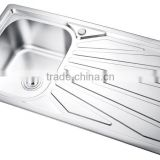 SC-133 With cupc certificate 1 meter single bowl stainless steel kitchen sink with drain board