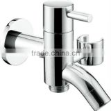 wall mounted single cold brass kitchen bibcock with hand shower holder,single cold tap, single lever kitchen mixer, spigot