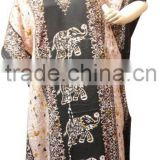 RTCF-7 Elephant Print African Latest Design Rayon Fabric long Evening Dress Ladies Caftan / Kaftans From Jaipur India Mix Lot