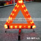 large vehicle electric fence warning sign / triangle with led sign