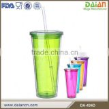 Clear double wall acrylic tumbler with paper insert