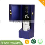 Top quality products handmade single bottle empty cardboard paper wine packaging gift box wine box