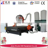 3 Tools 3 Spindles Auto Changer Wood CNC Router Changing 3 Spindles With Original NcStudio System Dust Collector ZK-1325