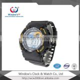 sports color changing watch dials silicone strap watches