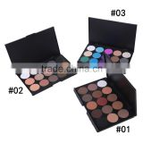 Newest Cheap Romantic color Makeup Shinning Eye Shadow ,15 colors Mixed Glitter Matte Eyeshadow Palette