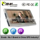 Eroda handled gps navigation7 inch gps navigation for car Windows CE 6.0 128M RAM 4GB ROM with FM,Bluetooth AV-IN function