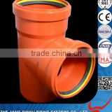 Competitive Price Water Drainage System Plastic Manufacturers PVC Pipe with Rubber Equal Tee