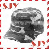 hand embroidery designs custom flat top military camouflage caps