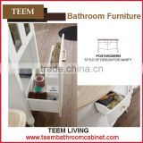 Teem bathroom furniture hotel bathroom supplies plywood bathroom vanity with side cabinet shelf
