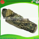 ISO certificated duck down, rip-stop out shell body shaped sleeping bag human shape sleeping bag