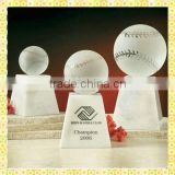 Exquisite Engraved Crystal Baseball Trophy For The Baseball Match Gifts