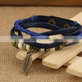 Strap manufacturers selling braided leather bracelet hot recommended leather bracelet to support small wholesale
