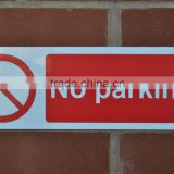 cheap no parking plastic warning signs PVC custom street sign board