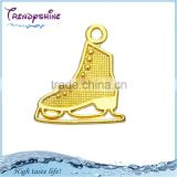 Eco-friendly Online Wholesale 18K Gold Plated Ice-Skating Shoe Charms