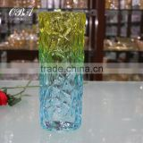 Unique Clear Glass Vase Flower Containers Home Decoration,Lovely Mixed Colored Glass Vase