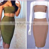 2016 Wholesale New Style Sexy 2pc Skirt Set Bodycon Bandage Dress