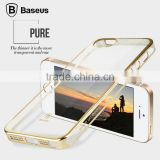 Original Baseus Glitter Series electro-plated case ultra thin transparent and Clear Plating PC Back Cover Case For iPhone 5S SE