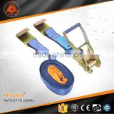 color zinc plated cargo lashing belt polyester webbing strap hok and loop strap for lifting