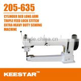 Keestar 205-635 Long arm, cylinder bed, heavy duty, walking foot industrial leather bag sewing machine