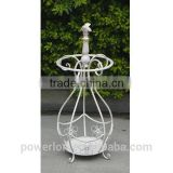 POWERLON Shabby Chic style wrought iron umbrella holder vintage outdoor furniture