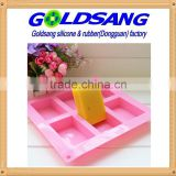 6 Rectangle silicone handmake soap mold &cake mold DIY mould