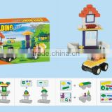 Mini Qute style Toy block plastic cube building block brick Cartoon model educational toy