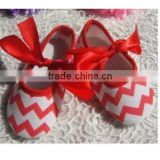 china product and low price wholesale soft chevron soft shoes for 0-15months baby kids for summer and spring