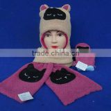 knittes sets beanie hats, gloves,scarf