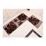 Black monsutera leaf style washable Microfiber mats for home dinning room