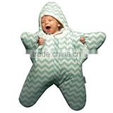 Starfish autumn winter Warm 100% cotton jersey newborn sleep sack for baby Unisex