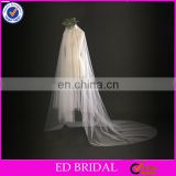 A08 China Manufacture Wholesale Cheap Price Two Layers Long Wedding Veil