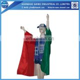 100% polyester with water proof custom body flag
