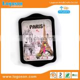 Wholesale Paris Eiffel Tower Tourist Souvenir Metal Plate Customized Country Souvenir Plate