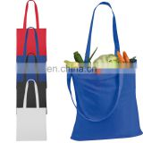 Customized Colorful Eco Friendly Tote Bag Drawstring Woven Reusable Canvas Shopping Bag BAG064