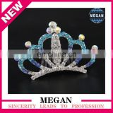 High Quality Crystal Rhinestone Tiara Comb Genuine Hair Comb Clip Pin