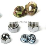 galvanize carbon steel hex flange nuts with tooth for bolt and screws fasteners