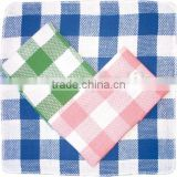 Check cotton/poly-cotton cleaning dish cloth