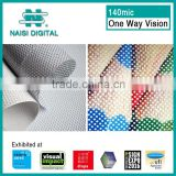 140mic Factory price one way vision fabric window screen film                                                                         Quality Choice