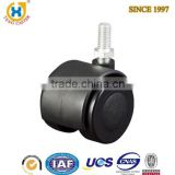 1.5-inch Twin Wheel Threaded Stem furniture leg casters