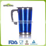 office mug with screw lid and handle