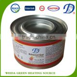 3 hours 24/48 pack hot sale ETHANOL GEL CHAFING FUEL