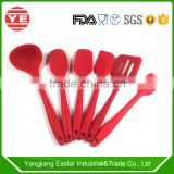 6 pcs Eco-friendly Silicon Kitchenware utensils cooking utensil silicon kitchenware with handle