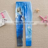 2015 New Movie girls Cinderella Princess leggings childrens long Pants Cartoon trousers for kid