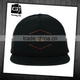 high quality factory customized sponge hat 5 panel screen printing flat brim trucker caps