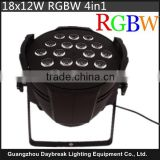 RGBW 4in1 18x12w led par light indoor use theatre led par 4in1 Quad-in-one colorful stage led